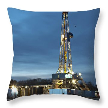 Smooth Drilling Throw Pillow