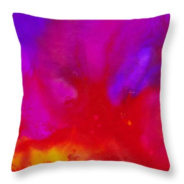 Throw Pillow featuring the painting Smooth Mood by Angela Treat Lyon
