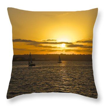 Smooth Sailing Throw Pillow by Claudia Ellis