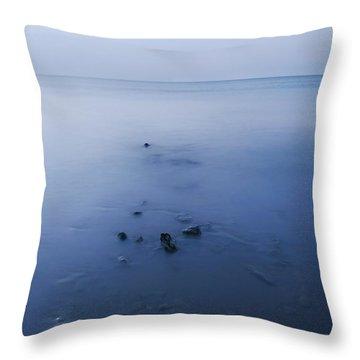 Smooth Sea Throw Pillow by Svetlana Sewell