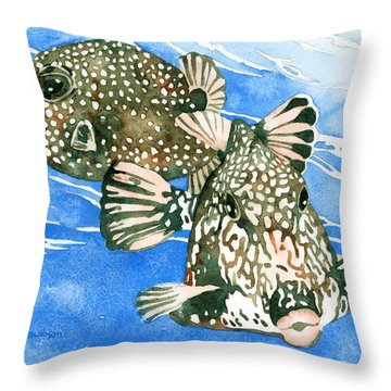 Smooth Trunkfish Pair Throw Pillow
