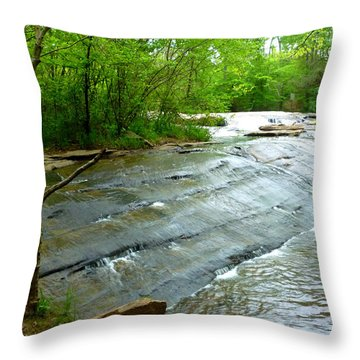 Throw Pillow featuring the photograph Smooth Waterfall by Pete Trenholm