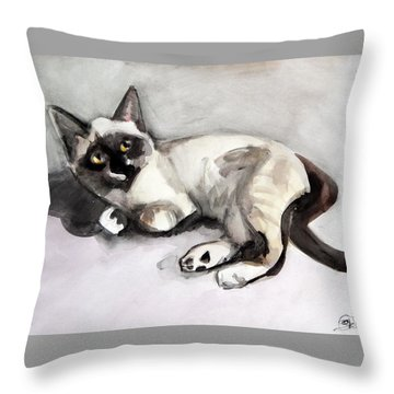 Smudge At 8 Weeks  Throw Pillow
