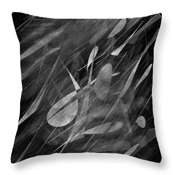 Smudges Throw Pillow by John Krakora