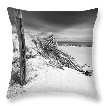 Smugglers Beach Throw Pillow