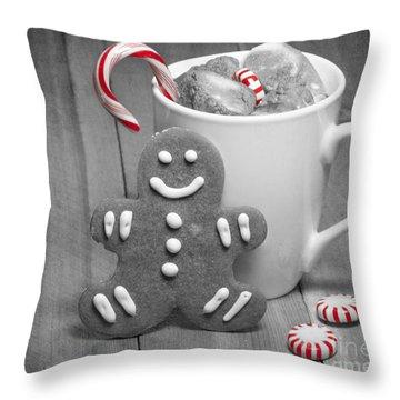 Snack For Santa Throw Pillow