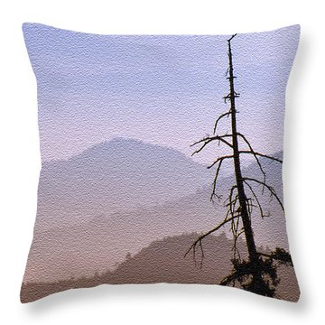 Snag On The Hill Throw Pillow