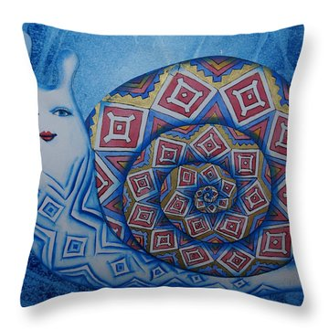 Snail Throw Pillow by Khromykh Natalia