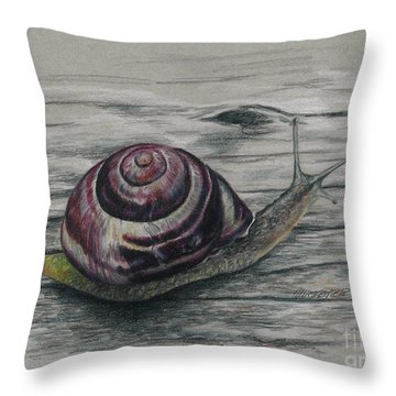 Snail Study Throw Pillow by Meagan  Visser