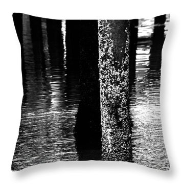 Snails In Black And White Throw Pillow