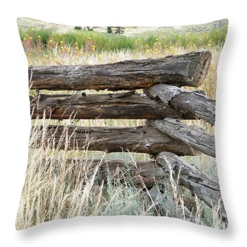 Snake Fence And Sage Brush Throw Pillow