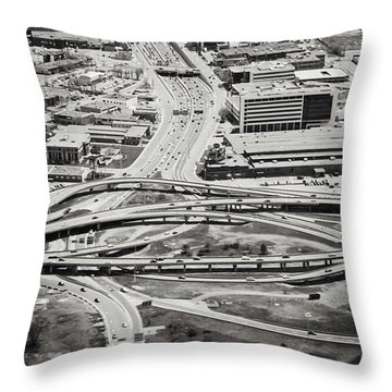 Snakes And Commuters Throw Pillow by Lisa Knechtel