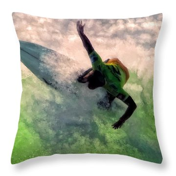 Snap Turn Throw Pillow by Michael Pickett