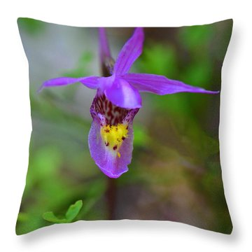 Throw Pillow featuring the digital art Snapdragon by Mae Wertz