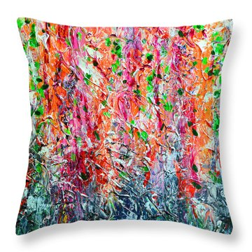 Snapdragons II Throw Pillow by Alys Caviness-Gober
