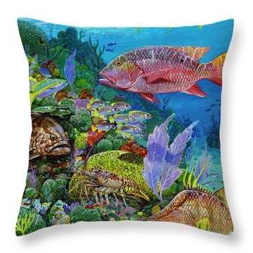 Snapper Reef Re0028 Throw Pillow by Carey Chen