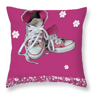 Throw Pillow featuring the photograph Sneakers by Randi Grace Nilsberg