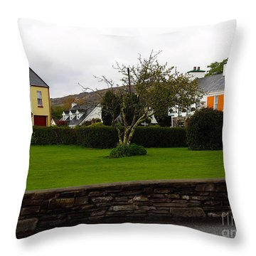 Sneem- Home Of The Blue Bull Throw Pillow