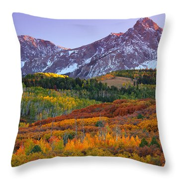 Sneffels Sunrise Throw Pillow