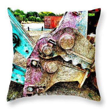 Sniffing Butt Throw Pillow by Steve Taylor