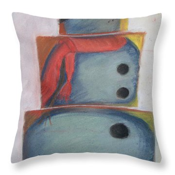 S'no Man Throw Pillow