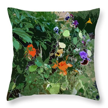 Snohomish Flowerbox 					 Throw Pillow