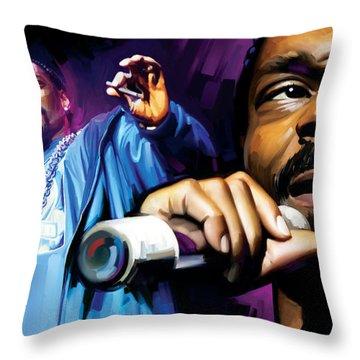 Snoop Dogg Artwork Throw Pillow by Sheraz A