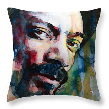 Snoop Dogg Throw Pillow by Laur Iduc
