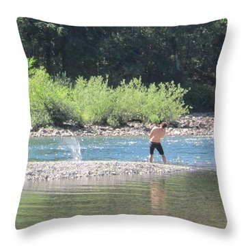 Snoqualmie River 5 Throw Pillow