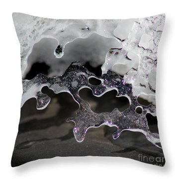 Snow And Ice Square Throw Pillow