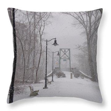 Snow At Bulls Island - 05 Throw Pillow