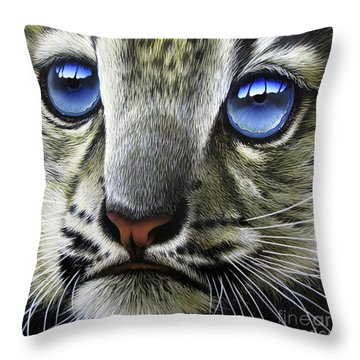 Snow Baby Throw Pillow by Jurek Zamoyski
