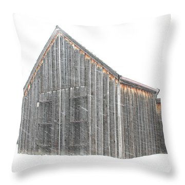 Throw Pillow featuring the photograph Snow Barns by Christopher McKenzie