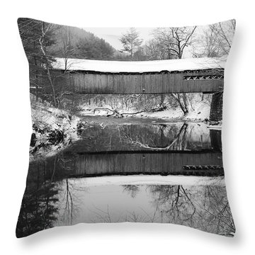 Snow Covered Coombs Throw Pillow