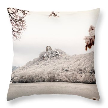 Snow Covered Sugarloaf Throw Pillow