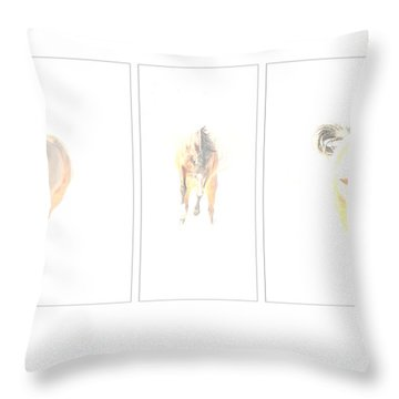 Snow Dance Throw Pillow by Carol Lynn Coronios
