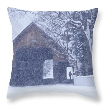 Throw Pillow featuring the photograph Snow Day by Alan L Graham