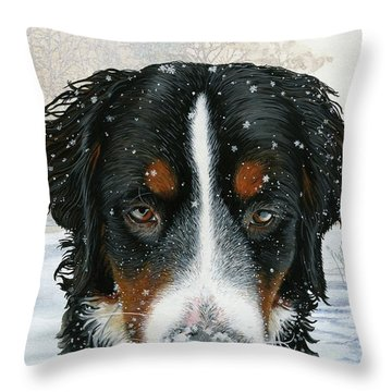 Snow Day Throw Pillow by Liane Weyers