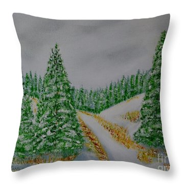 Snow Day Throw Pillow by Melvin Turner