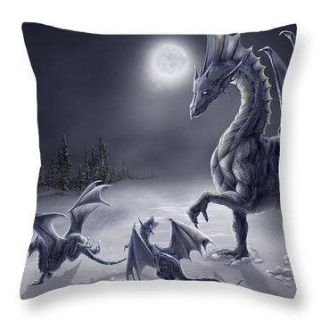 Snow Day Throw Pillow by Rob Carlos
