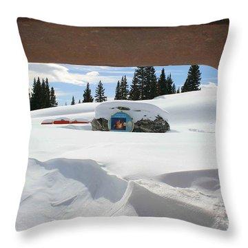 Snow Daze Throw Pillow by Fiona Kennard