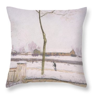 Snow Effect Effet De Neige Pastel On Paper C. 1880-1885 Throw Pillow