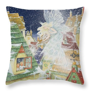 Snow Fairy Throw Pillow