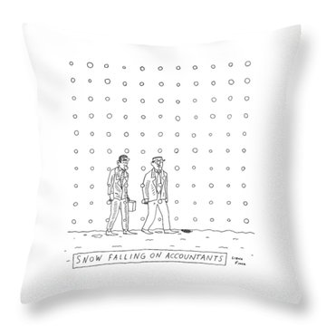 Snow Falling On Accountants -- Two Men Walk Throw Pillow