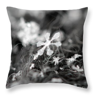 Snow Flower Throw Pillow