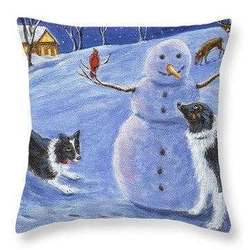 Snow Friends Throw Pillow