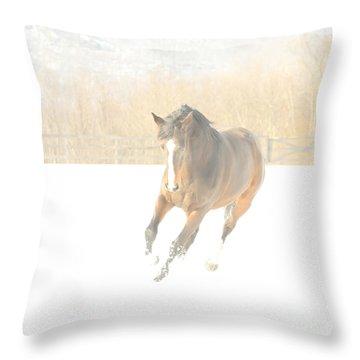 Throw Pillow featuring the photograph Snow Fun by Carol Lynn Coronios