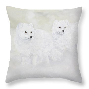 Snow Ghosts Of The North Throw Pillow by Johanna Lerwick