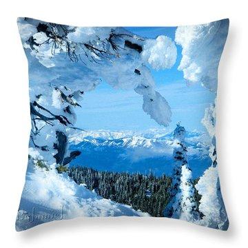 Snow Heart Throw Pillow
