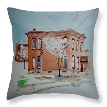 Snow In St. C 2 Throw Pillow